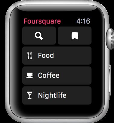 Foursquare search screenshot
