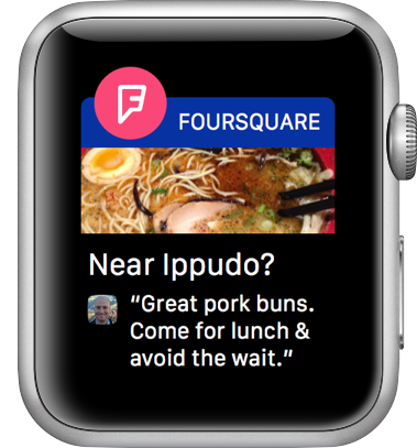 Foursquare notification screenshot