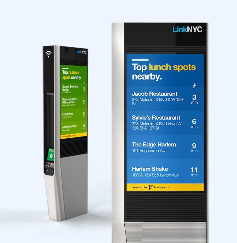 LinkNYC using the Pilgrim SDK to display trending venues